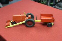 Vintage Slik Toys Tractor Loader And Dump Trailer Farm Collectible Antique Toy