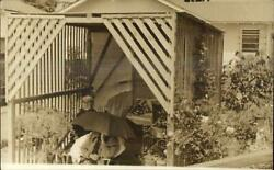 Hollywood LA Outdoor Bath House Wood Structure Rex Hetherington RPPC