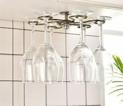Wine Rack Round Wall Mounted Goblet Rack Stainless Steel Ktchen Decoration Gift