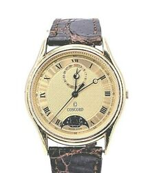 Concord 18k Yellow Gold Moon Phase Dial Model 5012214