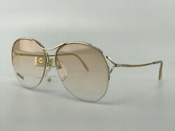 Essilor Sunglasses Mod. Nylor 301 Gold Butterfly Large Vintage Nos Nwd