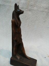 Raer Antique Anubis Ancient Egyptian God Of The Afterlife Figurine Stone 19 Cm