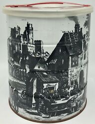 Hills Brothers 1969 Coffee Can Renaissance Village Castle Lid Art Edition
