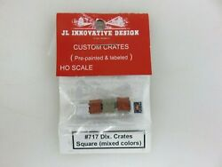 Jl Innovative Design 717 Dlx. Square Crates Mixed Colors Ho Scale New Old Stock