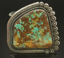 Old Pawn Native American Navajo Xl Turquoise Sterling Silver Cuff Bracelet 183g