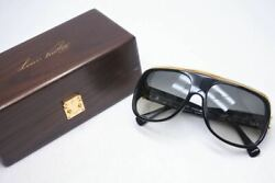 Auth LOUIS VUITTON Sunglasses MILLIONAIRE Black Vintage Z0098E With wooden BOX