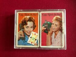 1961, Coca-cola, 2 Complete Decks Of Playing Cards Scarce / Vintage