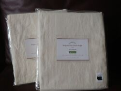 Set Of 4 Pottery Barn 50 X 84 Belgian Flax Linen Drapes Ivory Lined New