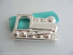 And Co Silver Train Rattle Rare Heirloom Baby Gift Pouch