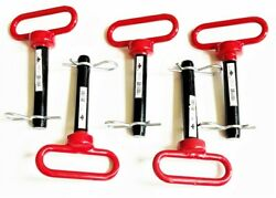 5 Goliath Industrial Red Handle 3/4 X 4 Tractor Hitch Pins Wagon Trailer Rhp34s