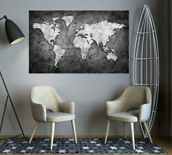 3d Old Poster Kep209 World Map Character Wall Mural Decal Stickers Poster Kay