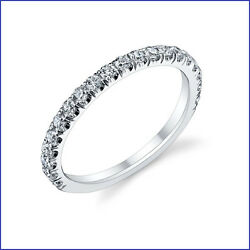 Gorgeous .50ct F/g Vs Diamond Wed And Anniv Band 18k Gold Robust 20 Stone Build