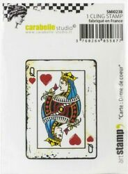 Carabelle Studio Cling Stamp - Queen Of Hearts Card 2.5 X 3.75 Smi0238