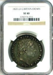 1820 Lx Silver Great Britain Crown Ngc Extra Fine 40