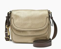 New Fossil Womenand039s Peyton Double Flap Leather Crossbody Bags Variety Colors