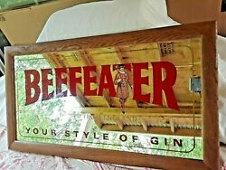 Beefeater Wood Framed Mirror Sign