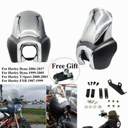 Headlight Fairing Windshield Kit For Harley Dyna Fxdl Fxdf Fxdb Fxdwg T-sport