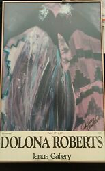 Ceremony Dolona Roberts.. Lithograph Print 27 X 17 Framed Autographed Janus