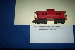American Flyer Trains - 938 American Flyer Lines Caboose 768