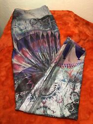 Evolution And Creation Leggings Size Medium Purple Pink Blue HA