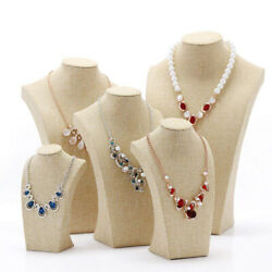5pcs/set Simple Necklace Display Bust Stand Mannequin Jewelry Display Holders