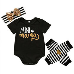 Newborn Infant Baby Girl Cotton Body Romper Jumpsuit Cotton Outfit Clothes Set $11.99