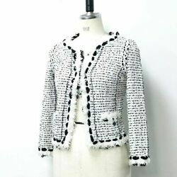 Short Length Sequins 05p Womenand039s Jacket White X Black Tweed P25414w03520