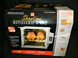 Ronco Showtime 5000 Platinum Edition Rotisserie Bbq In Box Excellent Used Once