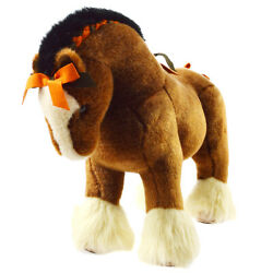 Rare Hermes Hermy Mm Baby Horse Plush Doll Brown Toy Italy 03345