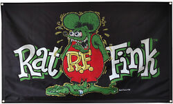 Rat Fink 3x5 Ft Flag Banner for College Dorm Frat or Man Cave