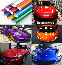 Metallic Candy Glossy Vinyl Cover For Whole Car Wrapping Film Decal Bubble Free