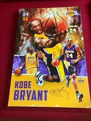 2012, Kobe Bryant,large Canvass 25x37 Facsimile Signed Wall Hanging Lakers