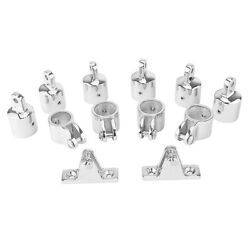 12piece 3 Bow Bimini Top 7/8and039and039 Stainless Steel Boat Marine Fittings Hardware Kit