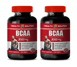 Pre Workout - Bcaa 3000mg - Build Muscle Naturally 240 Tablets - 2 Bottles