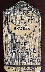 Wdw Haunted Mansion 1970 Tombstone Plaque Souvenir - Personalized - Nice