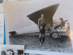 Charles Lindbergh Collection Photo Post Card Paper Clippings 14 Pieces