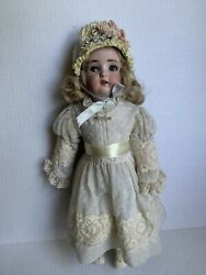 """Simon And Halbig Blonde Antique Doll 17"""" - Not Original Clothing"""