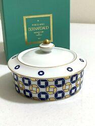 Porcelaines Bernardaud Limoges France Round Jewelry Trinket Box