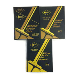 1972-1975 National Service Data Mitchell Manuals Auto Repair Ford Chevy Gm Dodge