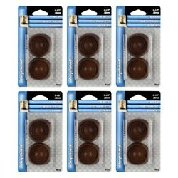 Shepherd Hardware 9075 Rubber Leg Cups For Furniture Feet Casters Brown 4ct, 6pk