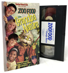 Zoo Food With Grandpa Nature Kids VHS Tape — VERY RARE HTF Animals Songs OOP