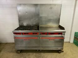 Vulcan 6 Burner 36 Inch Flat Grill 2 Full Size Ovens Natural Gas Tested