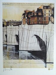 Signed Limited Edition Print Christo And Jeanne-claude And Catalogue