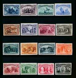 United States Us 230-245 P3 India Proofs Cpl.set Great Color And Vf Small Thins