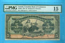 Can-note 5 Note Can Bk Of Commerce1922ref752004pmg-15