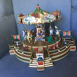 🔴 MR CHRISTMAS Holiday Around The Carousel Merry Go Round 19951 Works 2009