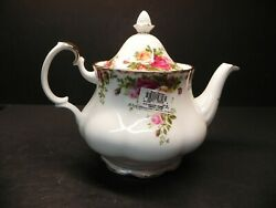 Tea Pot And Lid Old Country Roses By Royal Albert 5 Cups - New Withlabels Attached