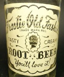 Vintage Acl Soda Pop Bottle Frostie Old Fashion Root Beer Of Sharon, Pa - 12 Oz