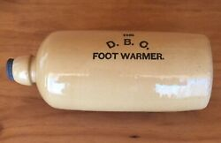 Antique Stoneware And039the D.b.c. Foot Warmerand039 Bed Warmer / Hot Water Bottle W/ Lid