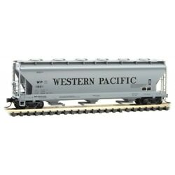 N Scale Micro-trains Mtl 09300170 Wp Western Pacific 3-bay Covered Hopper 11921